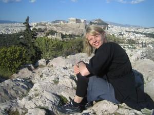 Lotta Olsson, Ariane Wahlgren-stipendiat i Aten mars 2010 (kreativitetsstipendium från Svenska Journalistförbundet).